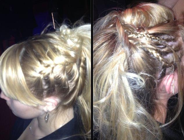 Un joli chignon blond !